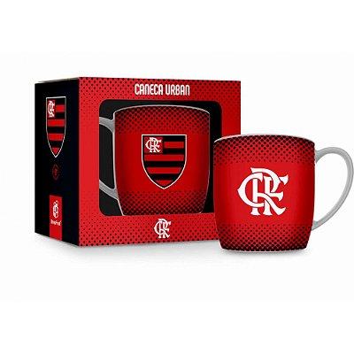 Caneca Porcelana Urban Flamengo - 360ml - Brasfoot