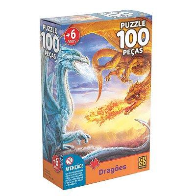Quebra Cabeça Dragões - 100 Peças - Grow