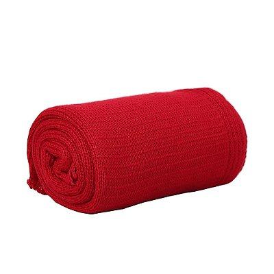 Manta em Tricô 80x80cm - Vermelho - Pimpolho