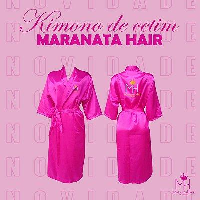 Kimono de Cetim Rosa