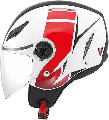 Capacete AGV Blade Fx Branco e Vermelho