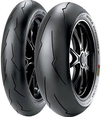 Combo Pneu Moto 120/70zr17+200/55zr17 Pirelli Diablo Super Corsa SPV2