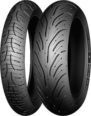 Combo Pneu Moto 120/70zr17+180/55zr17 Michelin Pilot Road 4 GT
