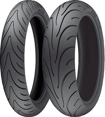 Combo Pneu Moto 120/70zr17+180/55zr17 Michelin Pilot Road 2