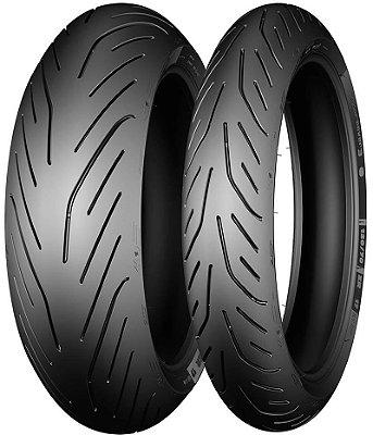 Combo Pneu Moto 120/70zr17+180/55zr17 Michelin Pilot Power 3