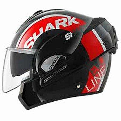 Capacete Shark Evoline Serie 3 Drop KRW Preto e Vermelho