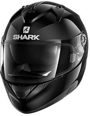 Capacete Shark Ridill Blank BLK Preto Brilho