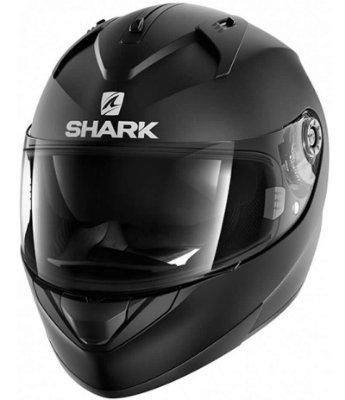 Capacete Shark Ridill Blank KMA Preto Fosco