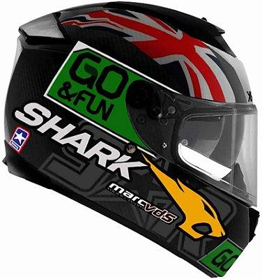 Capacete Shark Speed-R 2 Redding SS P DGY Preto