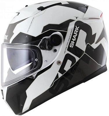 Capacete Shark Speed-R 2 Sauer II WKA Branco e Preto