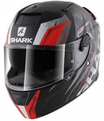 Capacete Shark Speed-R Tizzy KRW Preto e Vermelho Fosco
