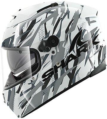 Capacete Shark Speed-R Max Vision Fight A WSK Branco Preto e Cinza