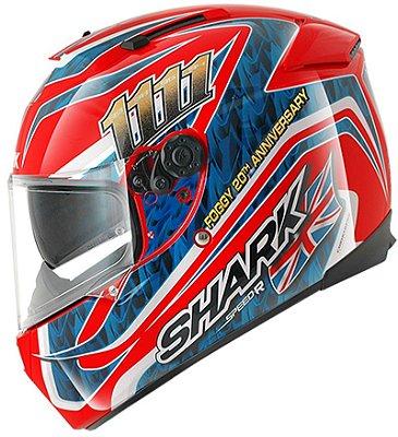 Capacete Shark Speed-R Max Vision Foggy 20Th Birthday RBA Vermelho e Azul