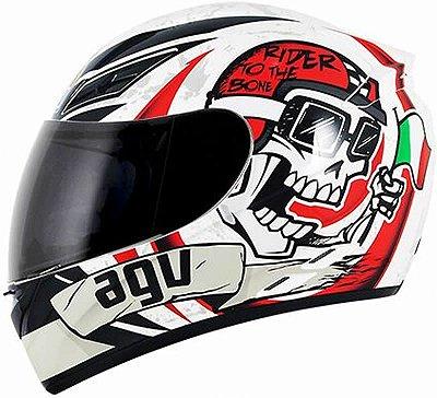 Capacete AGV K3 Rider To The Bone Branco
