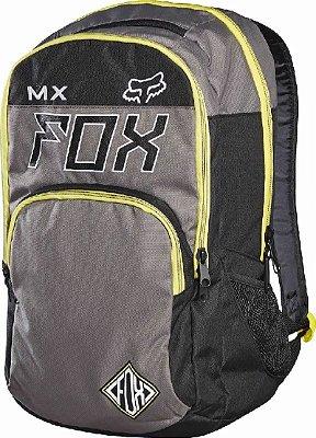 Mochila Fox Lifestyle Lets Ride Exhaust Cinza