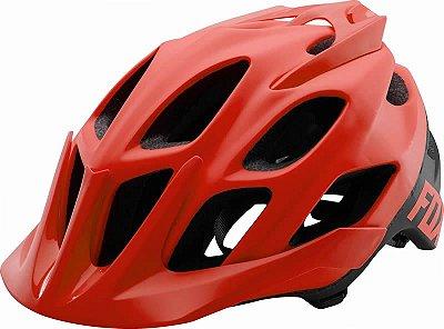 Capacete Fox Bike Flux Creo Vermelho e Preto
