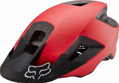 Capacete Fox Bike Ranger Vermelho e Preto Fosco