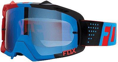 Óculos Fox MX Air Defence Libra Azul e Vermelho