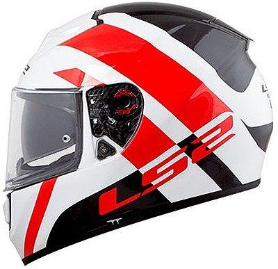 Capacete LS2 FF397 Vector Trident Branco e Vermelho