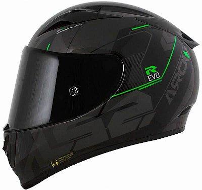 Capacete LS2 ff323 Arrow R Techno Preto Cinza e Verde