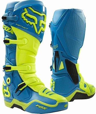 Bota Fox MX Instinct Azul e Verde
