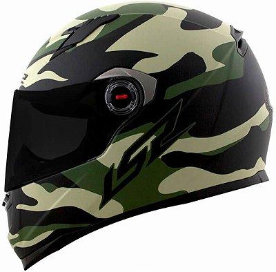 Capacete LS2 ff358 Army Preto e Verde