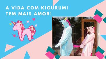 Kigurumi Azul e Rosa