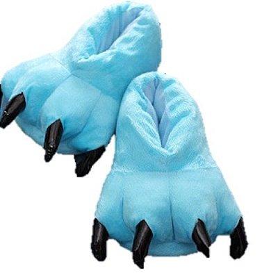 Pantufa Pata de Monstro Unicórnio Azul