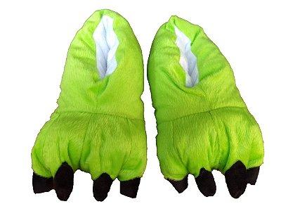 Pantufa Pata de Monstro Verde Claro