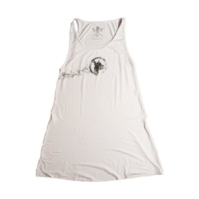 Vestido Branco Smoke Logo