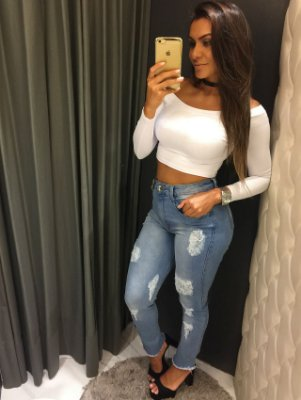 CALÇA JEANS SUPER HIGH SECOND SKIN ANKLE MyFT