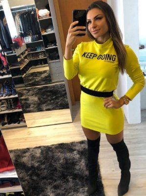 Vestido Justo Neon GB