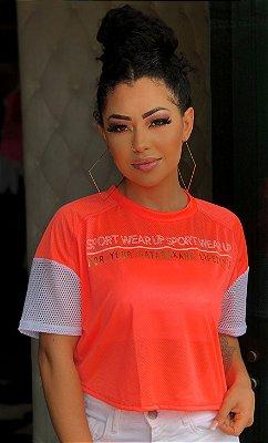 T Shirt Ampla Power Up Gata Bakana