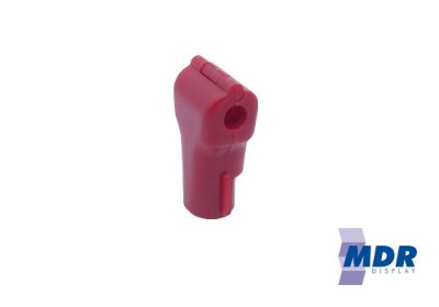 Trava Antifurto Para Gancho (Expositores) na cor Vermelha / Kit com 50 unidades + 1 Chave Magnética