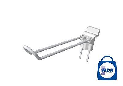 Gancho Duplo para Canaletado com Encaixe Plástico / Kit com 50 unidades