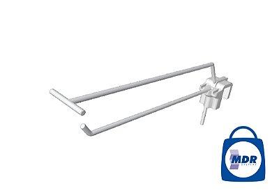 Gancho Simples para Régua com Porta Preço e Encaixe Plástico / Kit com 50 unidades