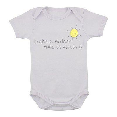 Body de Bebê Melhor Mãe do Mundo
