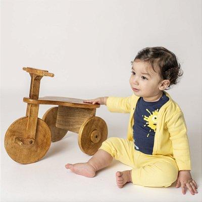 Conjunto Casaco e Calça Amarelo para Bebê