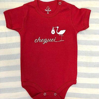 Body de Bebê Cheguei Vermelho