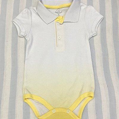 Body Pólo de Bebê Amarela