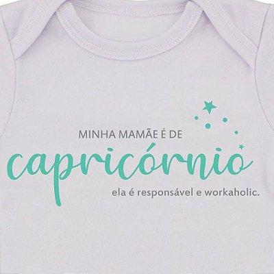 Body de Bebê Mamãe de Capricórnio