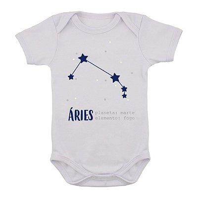 Body de Bebê Constelação - Áries