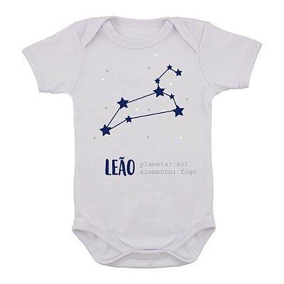 Body de Bebê Constelação - Leão