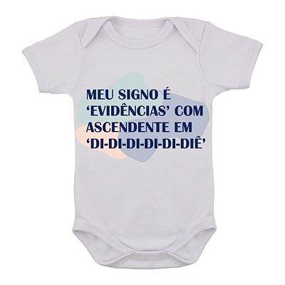 Body de Bebê Ascendete em Didididi-diê