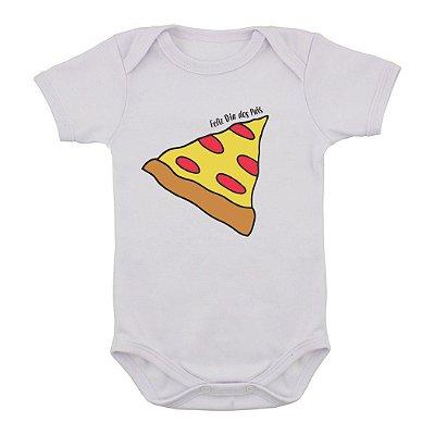 Body de Bebê Pedacinho do Papai - PIZZA