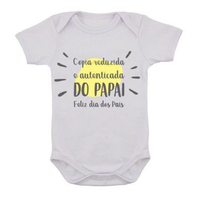 Body de Bebê Cópia Reduzida do Papai