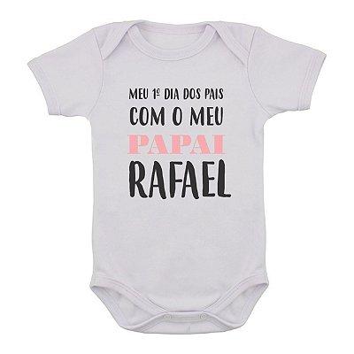 Body de Bebê Primeiro Dia dos Pais PERSONALIZADO