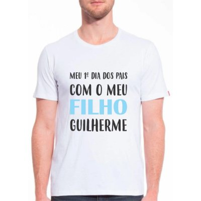 Camiseta Meu Primeiro Dia dos Pais PERSONALIZADO