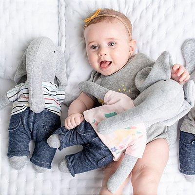 Naninha Elefante com Body de Bebê