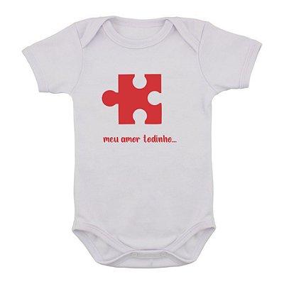 Body de Bebê Quebra-Cabeça